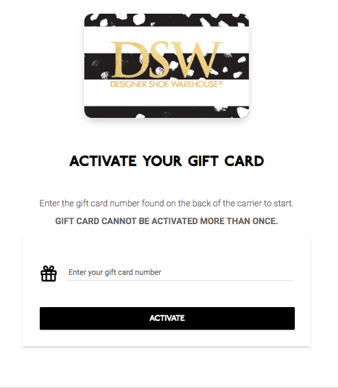 Get 5 Free When You Activate Your Dsw Gift Card Online With At Least 20 Valid On Purchases Through December 31 2018